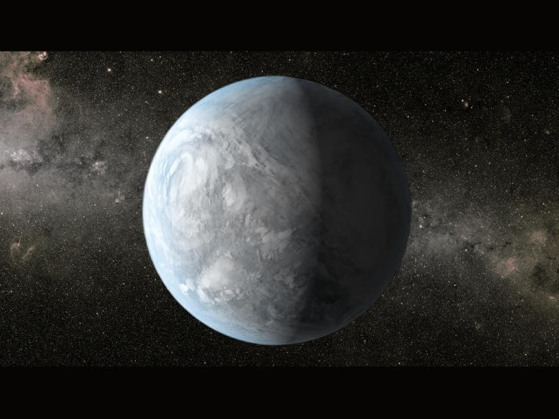 Illustration de la super-Terre Kepler-62e