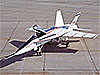 The X-53 aircraft, a modified F/A-18 fighter