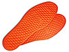 Orange insoles made of aerogel
