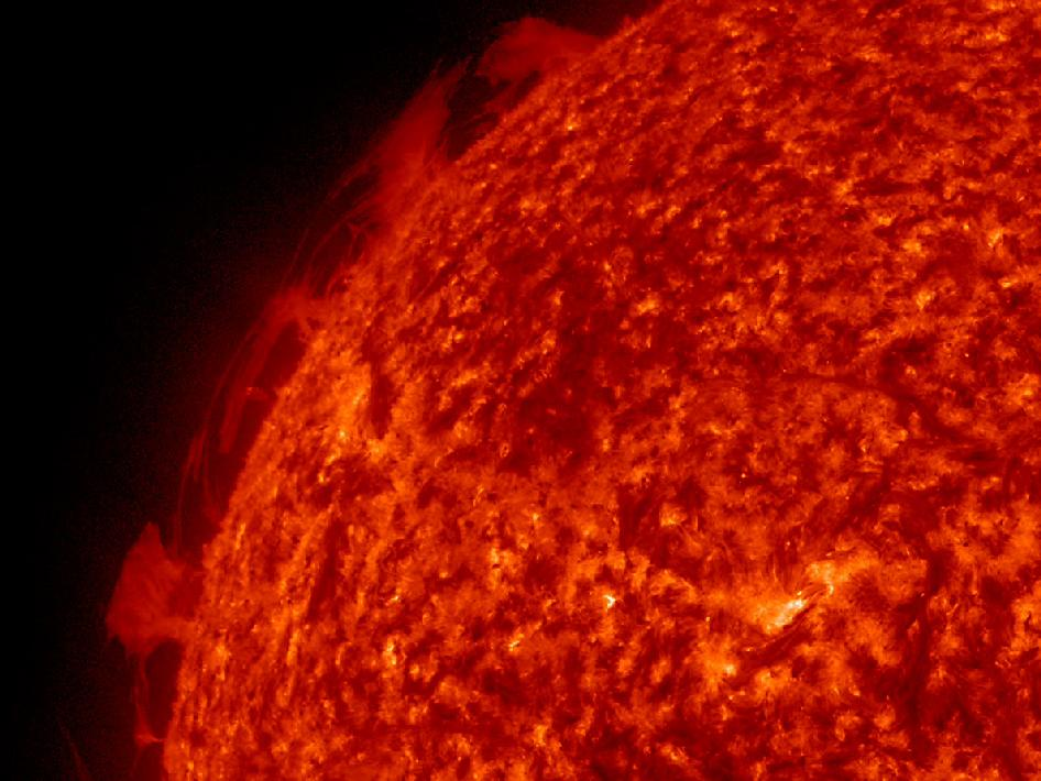 SDO captured several strands of plasma that were hovering above the Sun's surface, interacting with each other (Apr. 13-15, 2013).