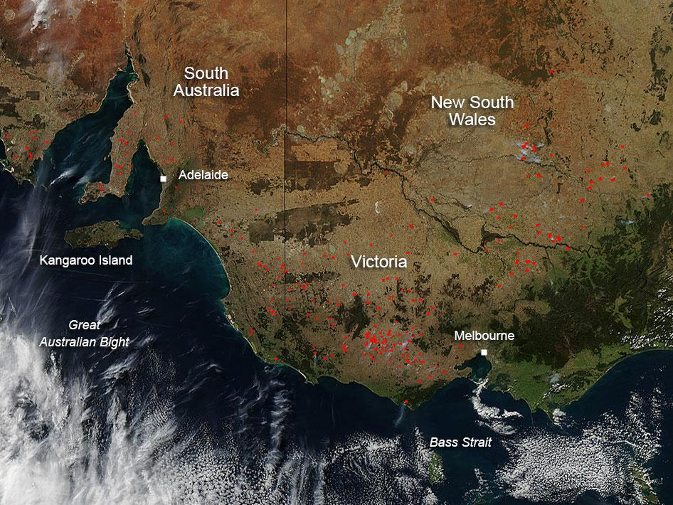Fires in southern Australia