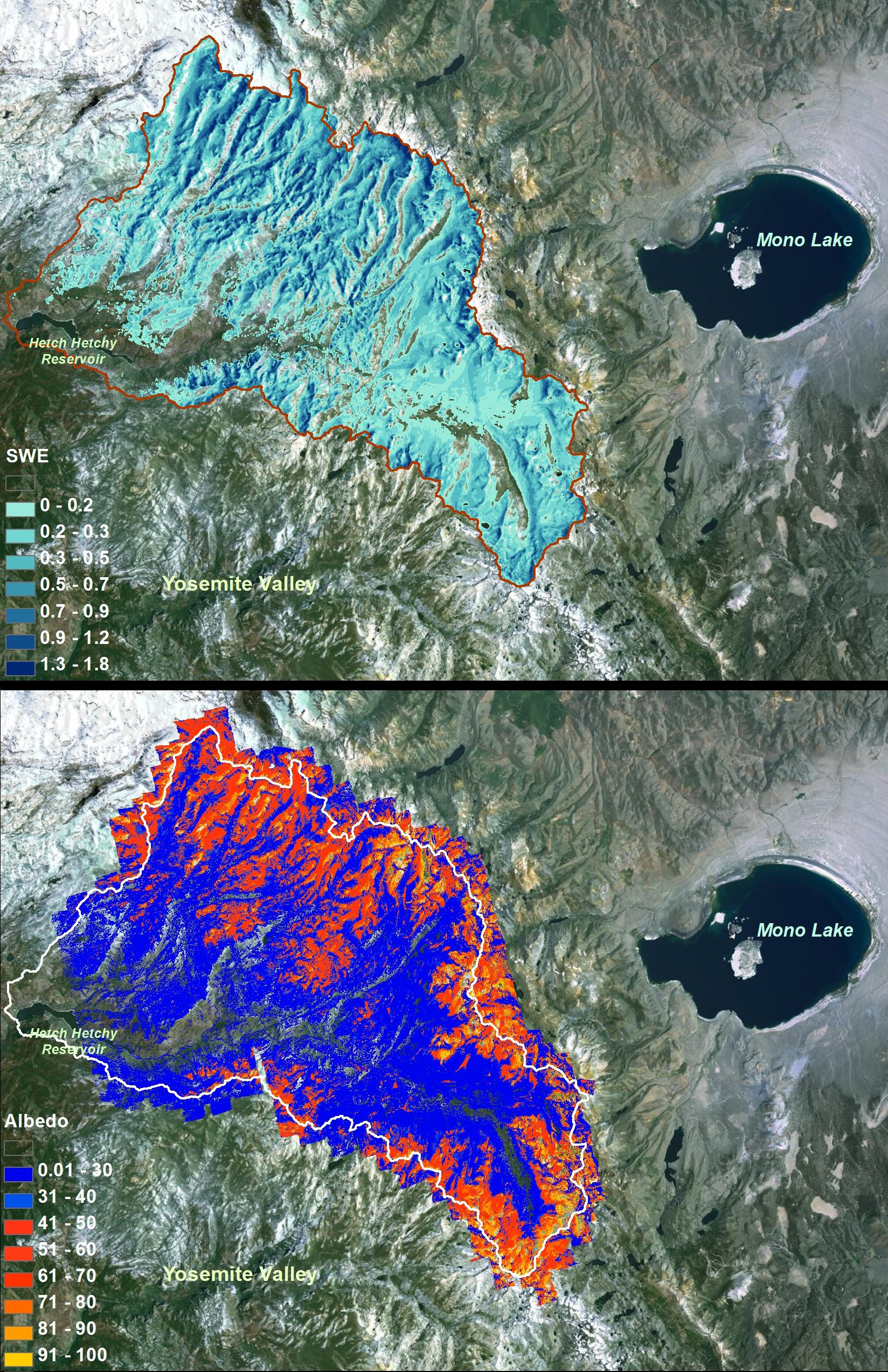 NASA NASA Opens New Era In Measuring Western US Snowpack - Us snowpack map
