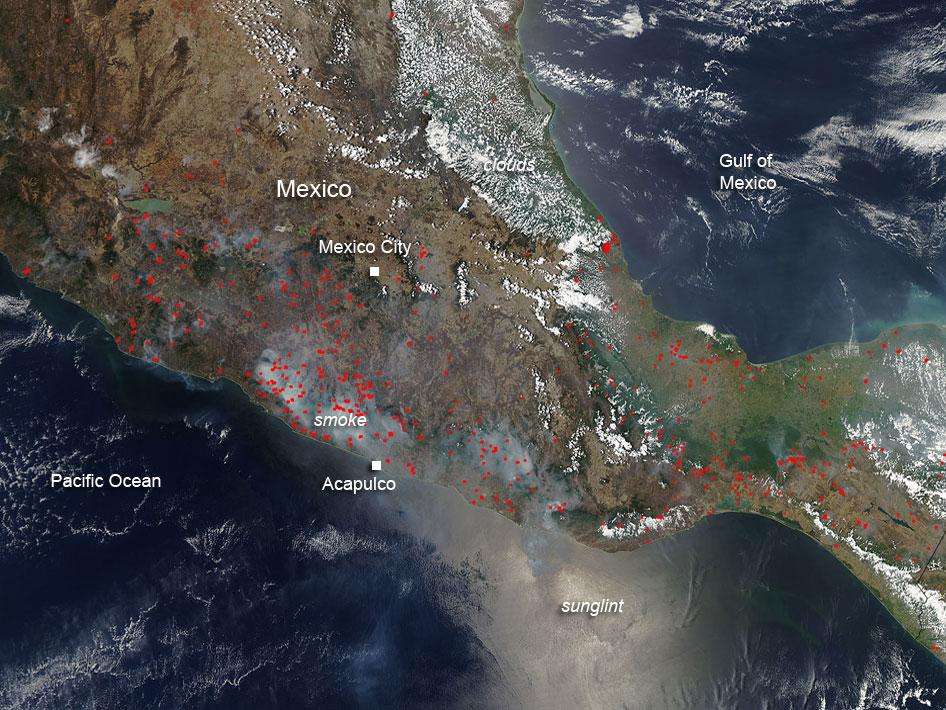 Agricultural fires in Mexico