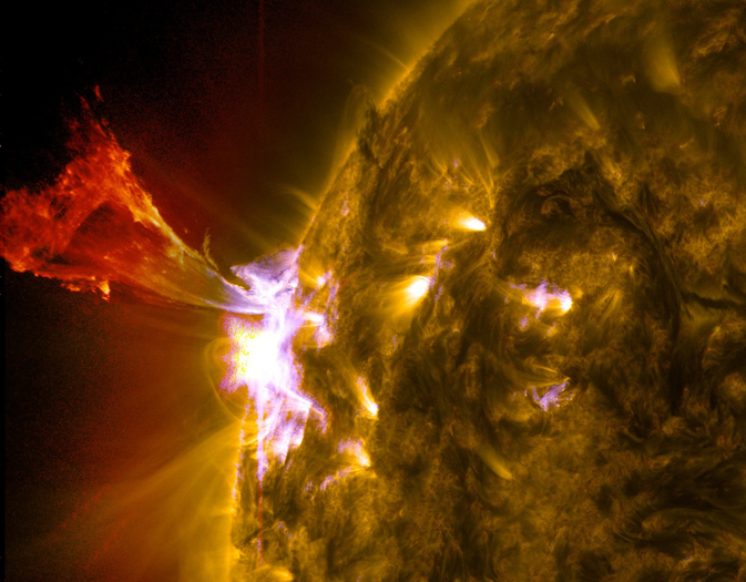 composite SDO image of prominence eruption from 3 May 2013