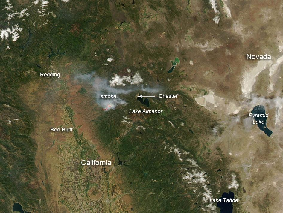 Panther and Cedar Wildfires in Northern California