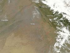 Fires in Northeastern India
