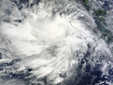 MODIS image of Cyclone 01B