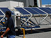 The solar power generator in VAB parking lot.