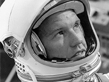 Mercury astronaut Gordon Cooper. Credit: NASA TV