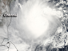 MODIS image of Tropical Cyclone Mahasen