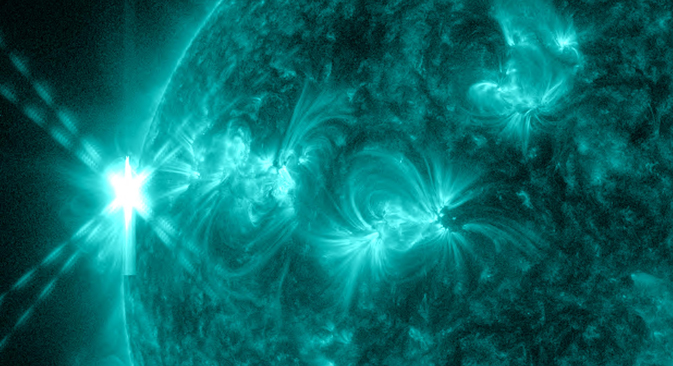 SDO image of an X2.8-class flare on May 13, 2013