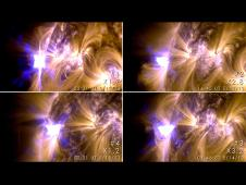 Four X-class solar flares were emitted by the sun between May 12 to 14, 2013.