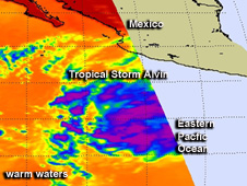 AIRS image of Alvin
