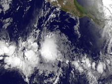 GOES image of Alvin