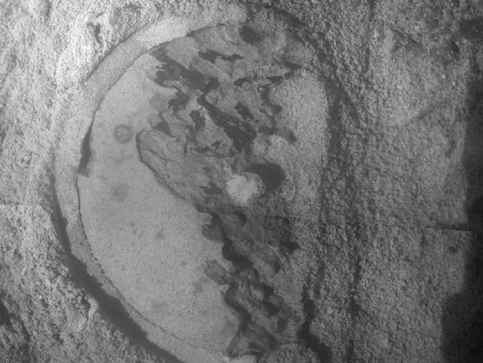 Close-Up of 'Esperance' after abrasion by Opportunity