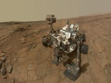 Updated Curiosity self-portrait at 'John Klein'