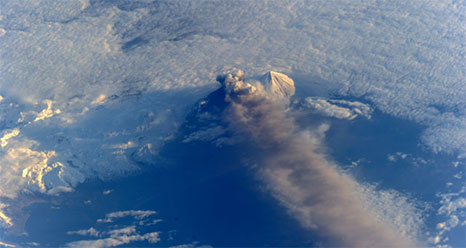Pavlof Volcano in the Aleutian Islands