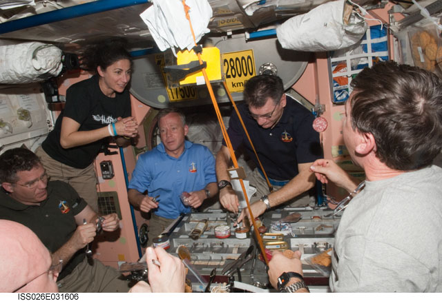 Astronauts returning from the International Space Station