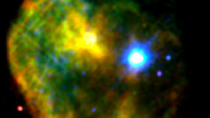 false-color X-ray image of the CTB 109 supernova remnant