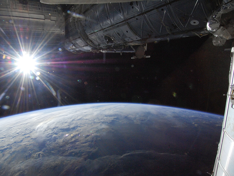 Sun over Earth's horizon, photographed by one of the Expedition 26 crew members aboard the International Space Station on May 21, 2013. Image Credit: NASA