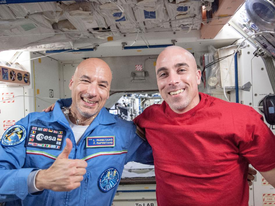 Astronauts Luca Parmitano and Chris Cassidy
