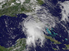GOES image of 91L