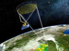 Artist concept of NASA's Soil Moisture Active Passive mission