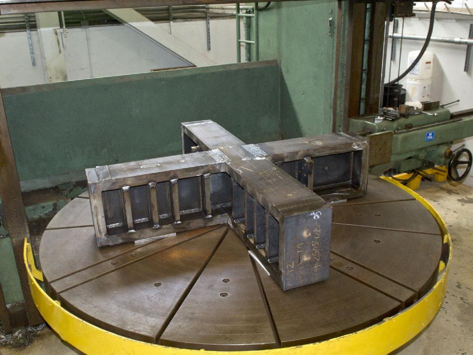 Fabrication of 7,755 pound thrust frame adapter at Stennis Space Center