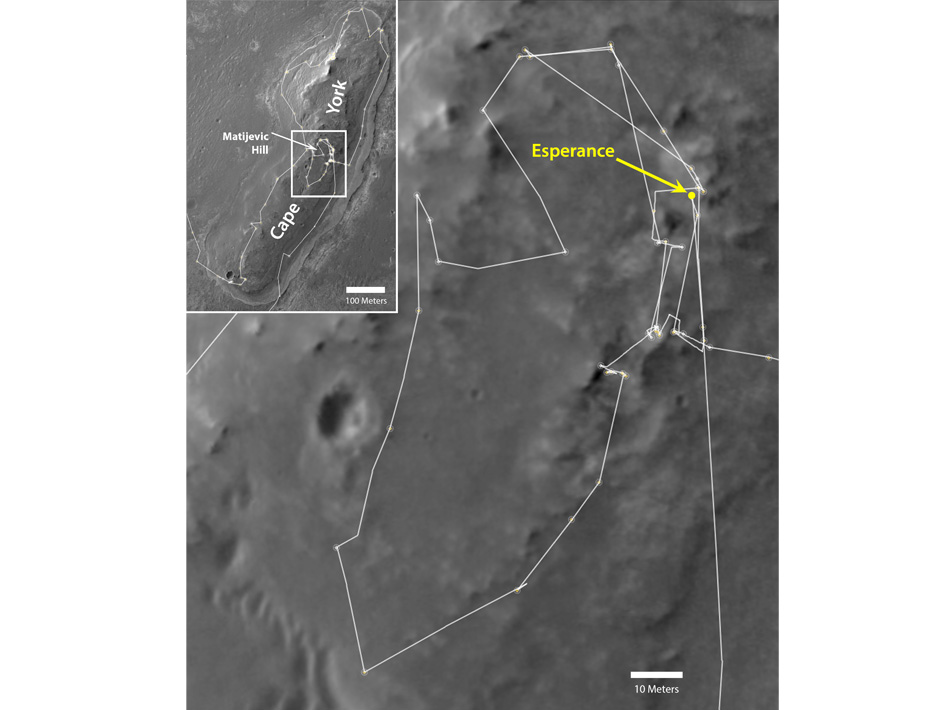 Opportunity's exploration of 'Cape York'