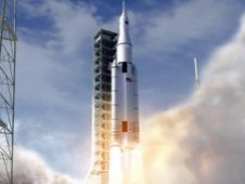 Artist concept of the NASA Space Launch System