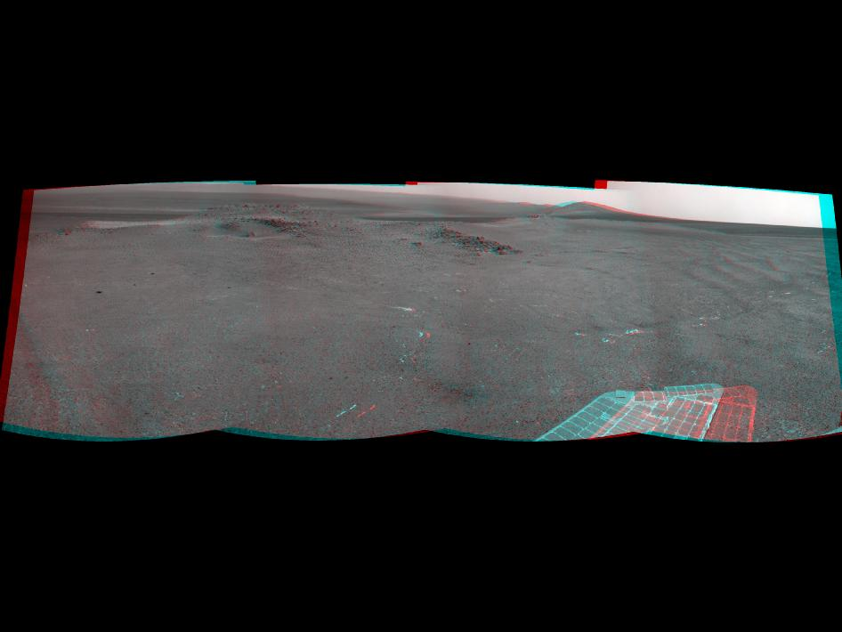 'Knobbys Head' on Opportunity's southward route (Stereo)
