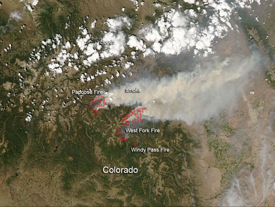 West Complex Fire in Colorado