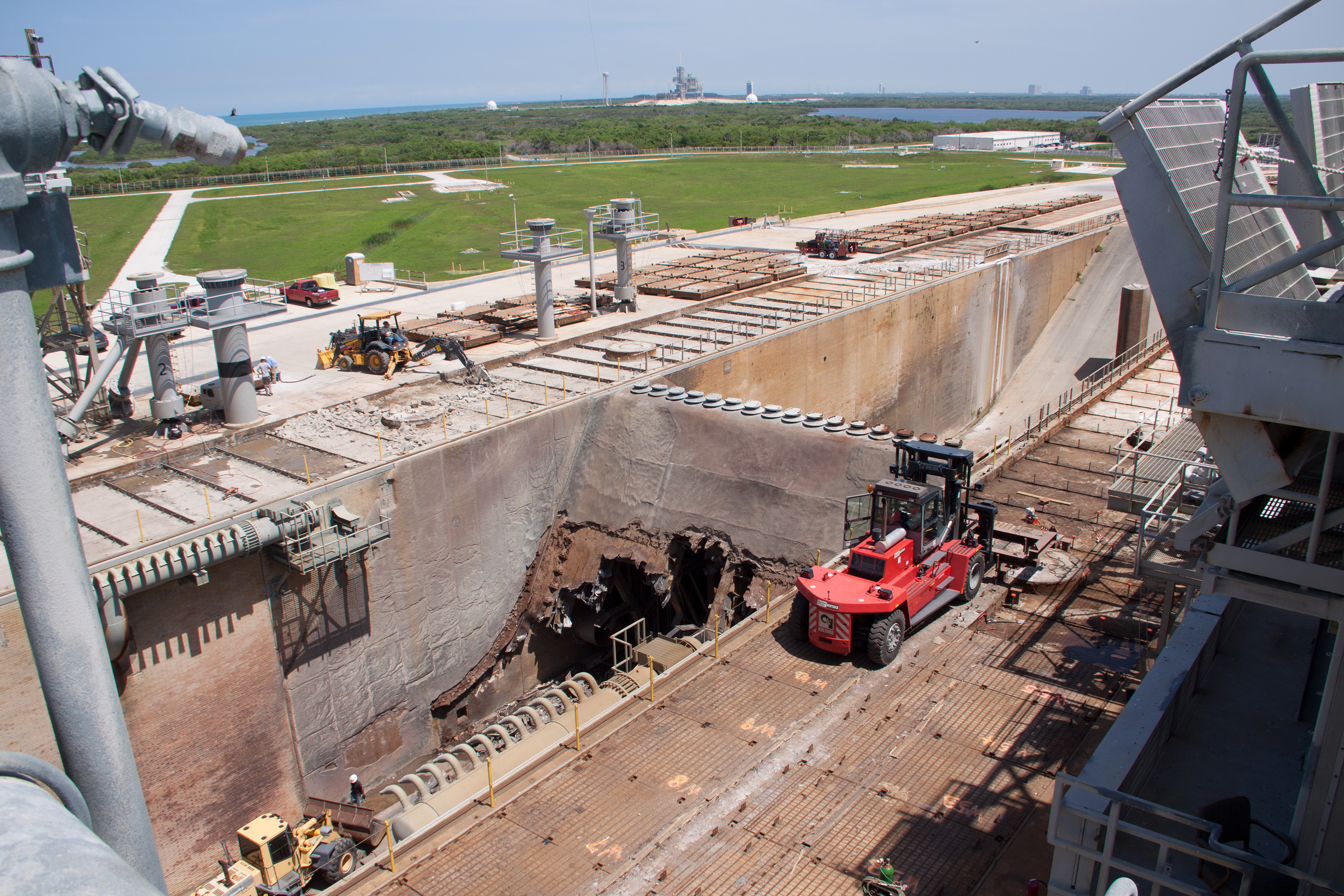 Nasa New Flame Trench Will Support New Era At Launch Pad 39b