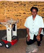 Dr. Ayanna Howard with the Safe Navigation Rover