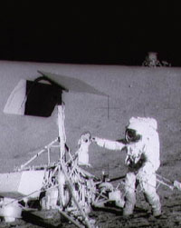 Pete Conrad with Surveyor 3