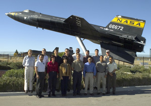 New astronaut class in front of X-15 model