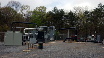 Landfill gas processing plant