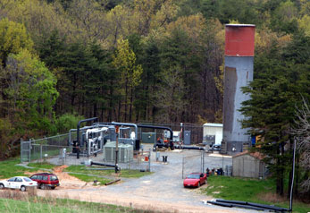 Photo of Landfill Gas Processing Plant, Sandy Hill Landfill in Bowie, Md.