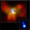 Chandra image shows two giant black holes in one galaxy