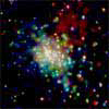 Chandra image of the star  cluster RCW 38