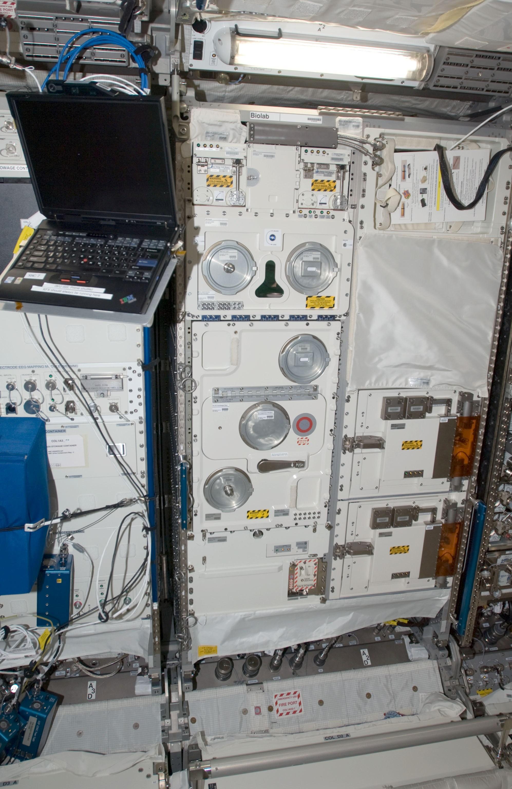 Nasa European Physiology Module Exterior Wiring Enclosures View Larger Image