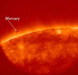 nasa mercury crossing paths with the sun