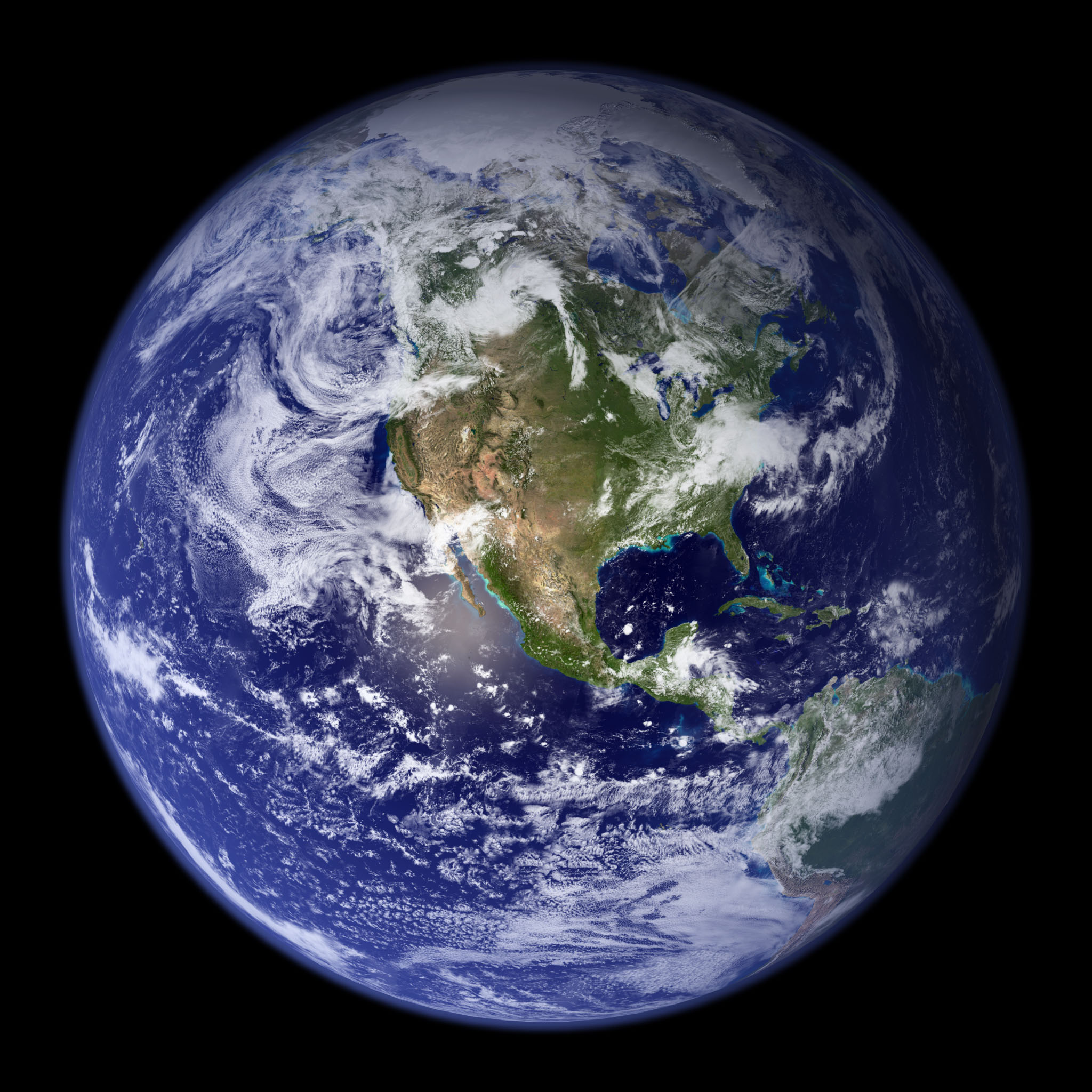 Earth Composite View Of North America From Space
