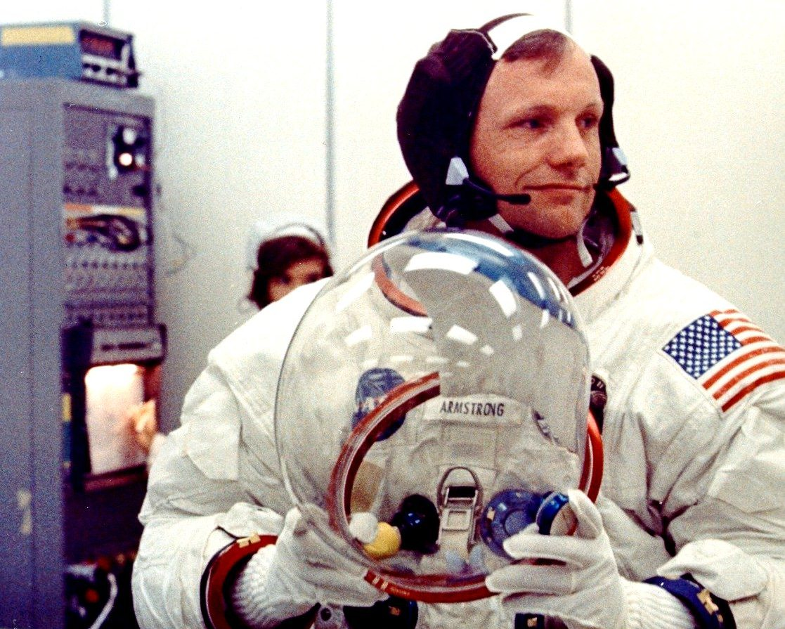 astronaut neil armstrong on uniform - photo #27