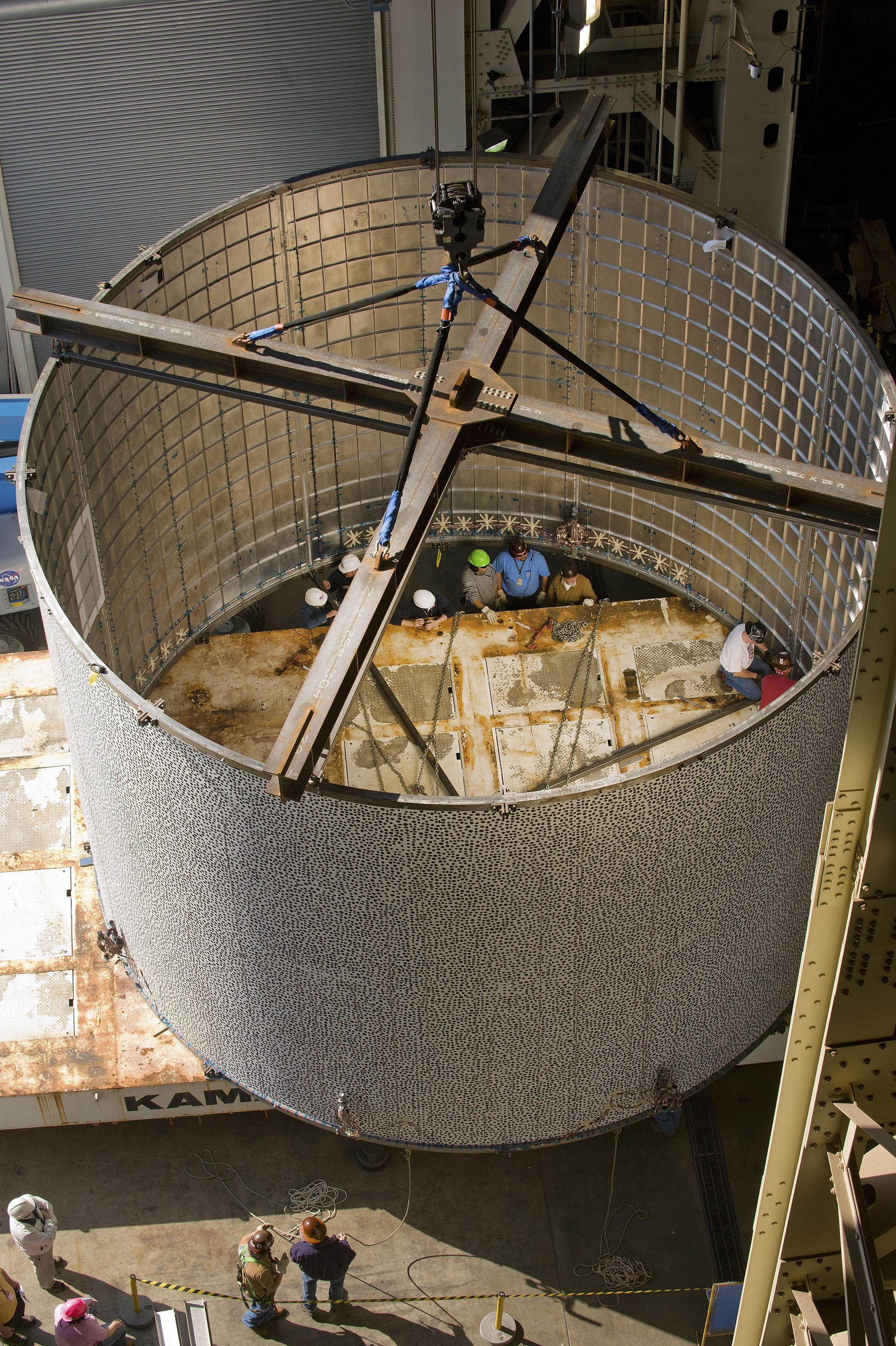 NASA Engineers Crush Fuel Tank to Build Better Rockets