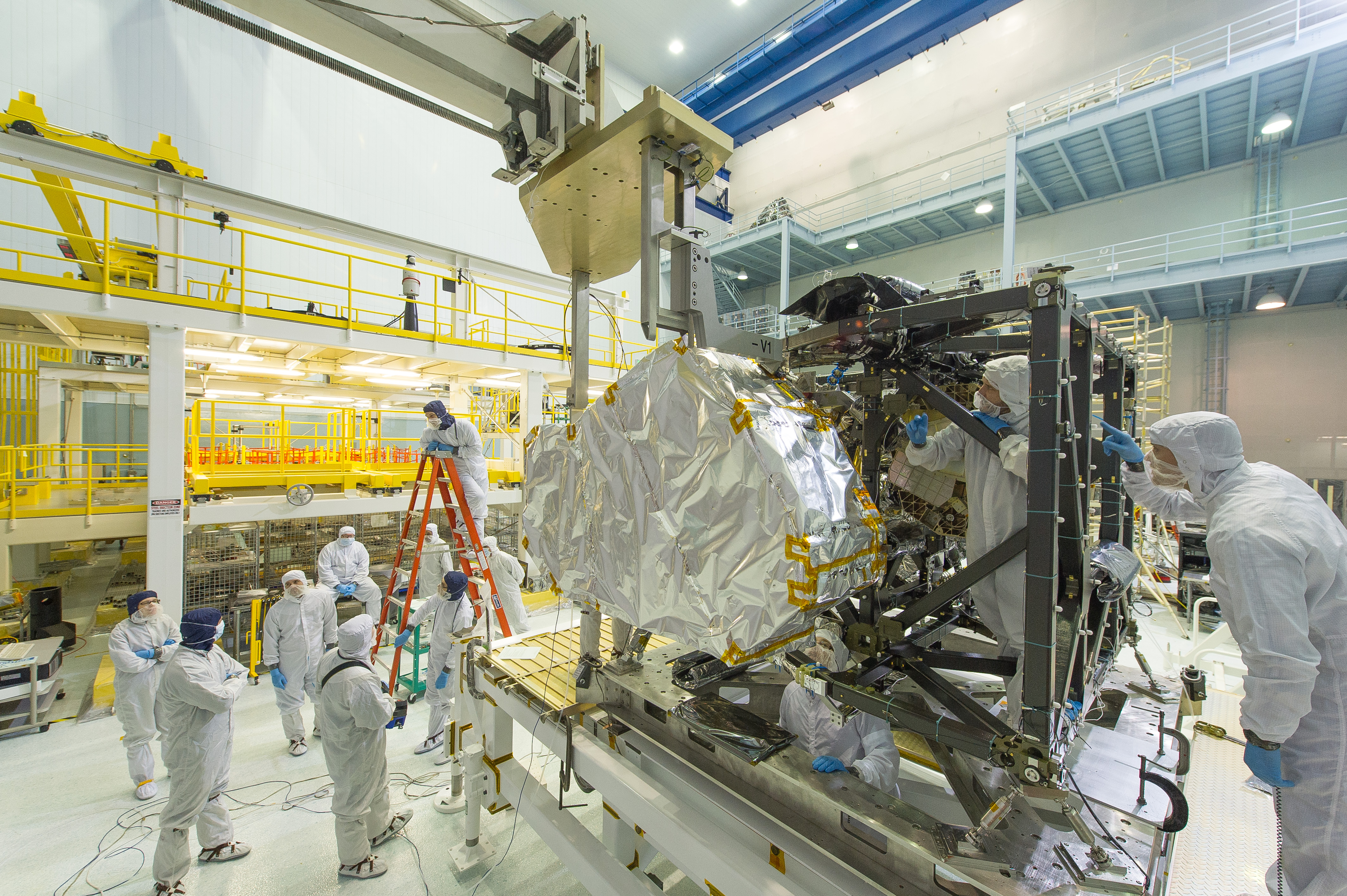 James Webb Space Telescopes Near Infrared Spectrograph Installed Nasa Video Of A Hovering Lander
