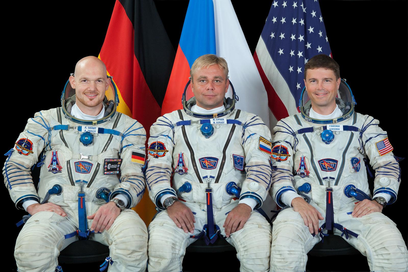 귀환하는 탐험대41의 세 우주인