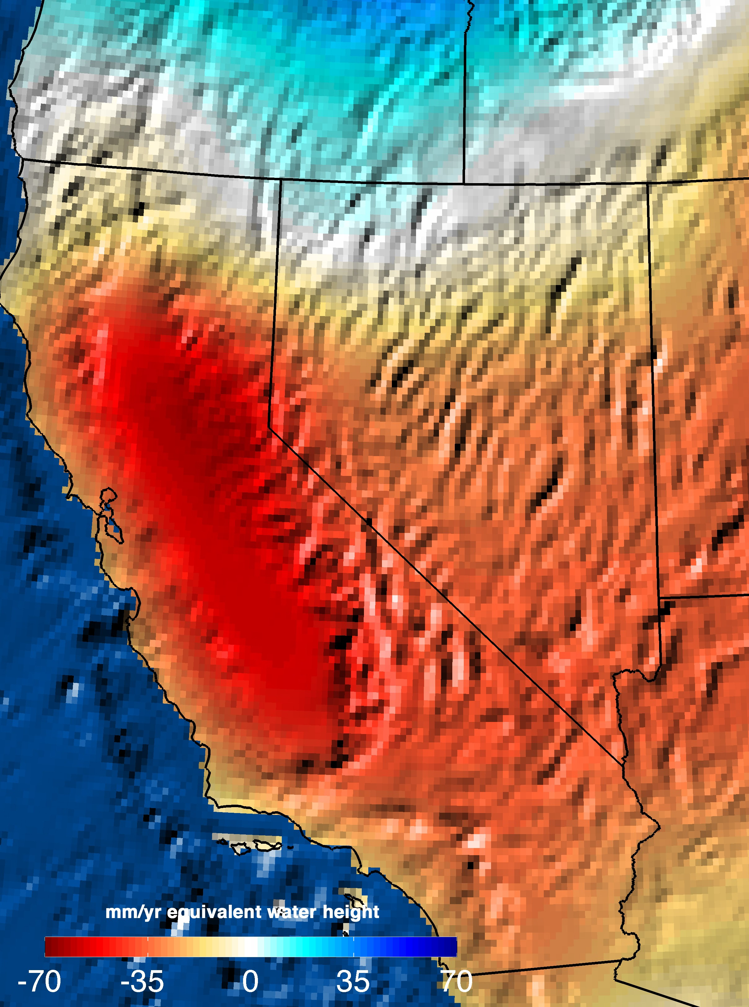 NASA Analysis Trillion Gallons To Replenish California Drought - World satellite map 2014