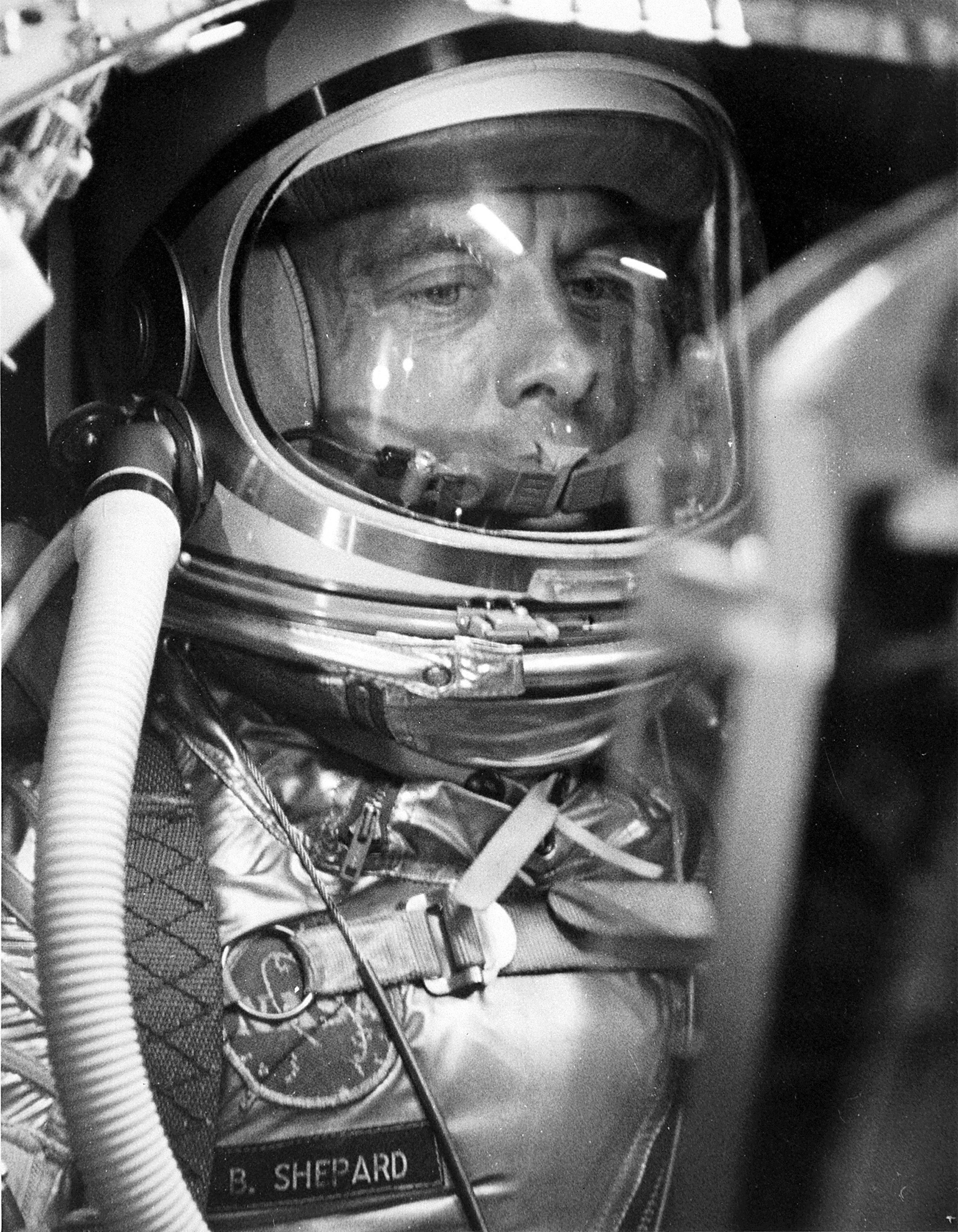 The first American cosmonaut Alan Shepard. Mission Mercury-Redstone-3 on May 5, 1961