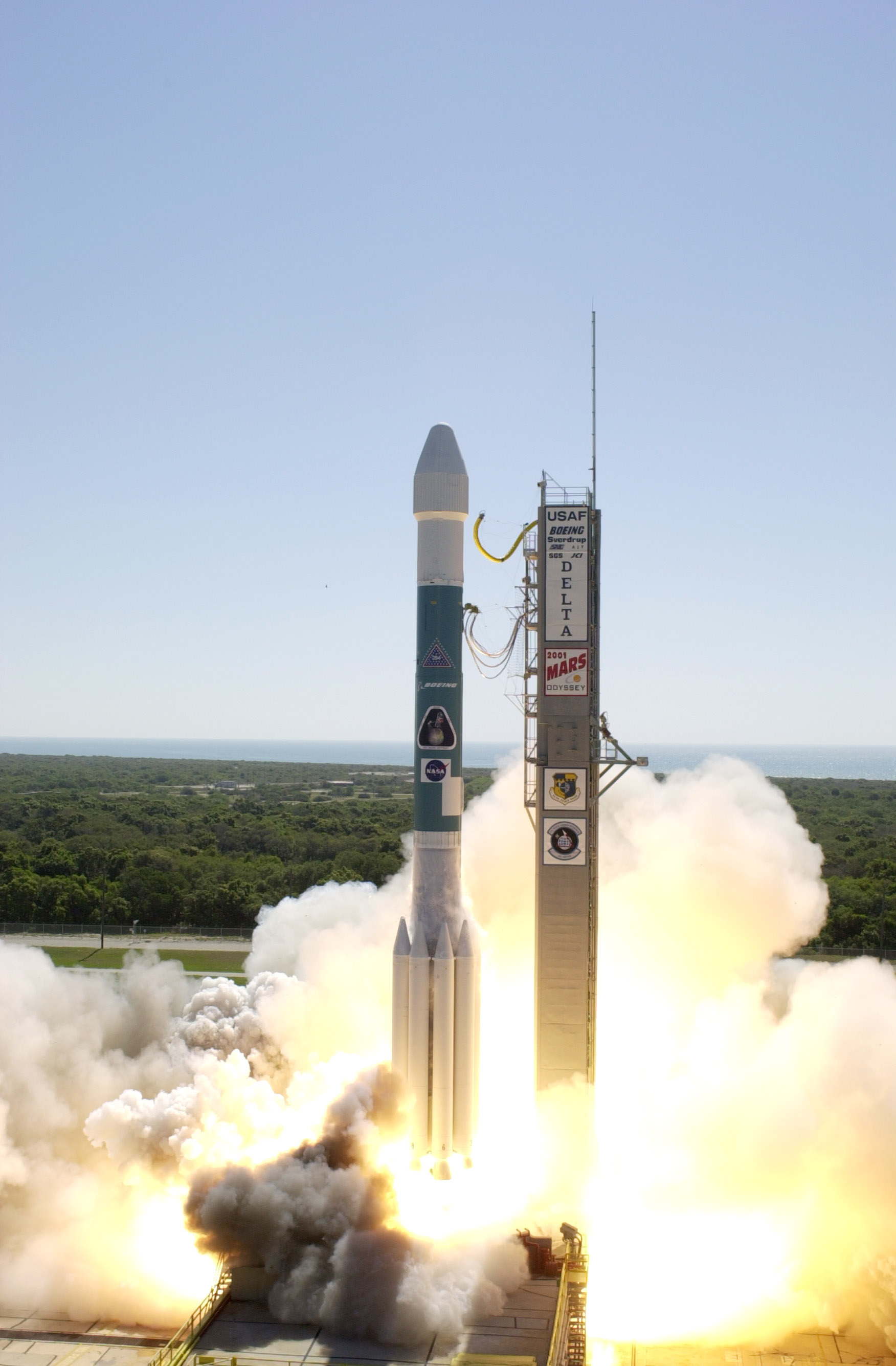 Image result for 2001 mars odyssey launch